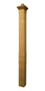Stonington 6 Western Red Cedar  - Square Chamfered Post with Cap